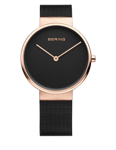 Bering Black Analog Classic Stainless Steel Bracelet Watch-BROWN-One Size