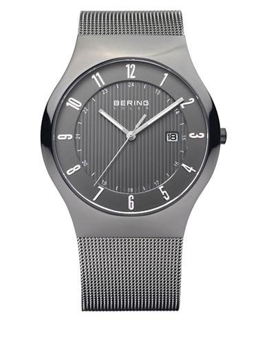 Bering Grey Analog Classic Stainless Steel Bracelet Watch-GREY-One Size
