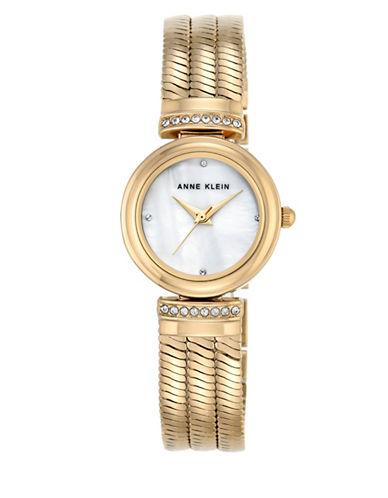 Anne Klein Gold Bracelet Crystal Watch-GOLD-One Size