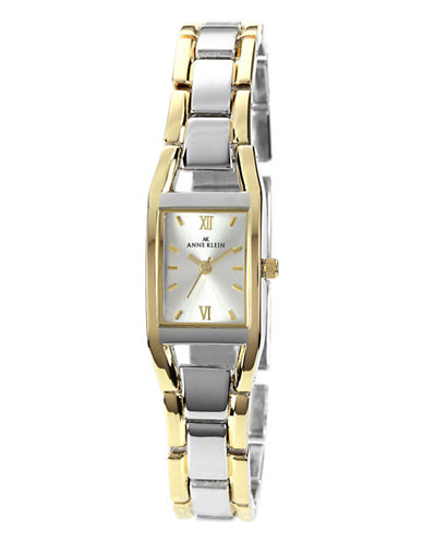 Anne Klein Two Tone Shiny Tank Watch-TWO TONE COLOUR-One Size