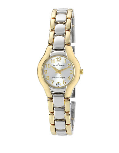 Anne Klein Two Tone Shiny Round Watch-TWO TONE-One Size
