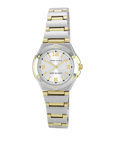Anne Klein Two Tone Matte And Shiny Round Watch-TWO TONE COLOUR-One Size