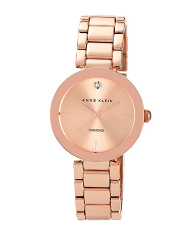 Anne Klein Rose Gold with Diamond Dial-ROSE GOLD-One Size