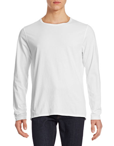 Toscano Solid Cotton T-Shirt-WHITE-Small 88226424_WHITE_Small