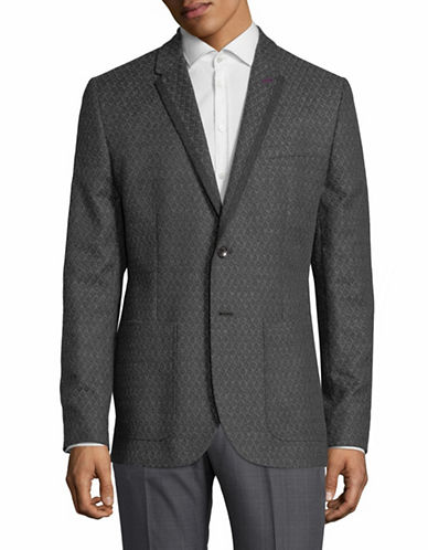 Ted Baker London Diamond Jacquard Sports Jacket-GREY-5/Large