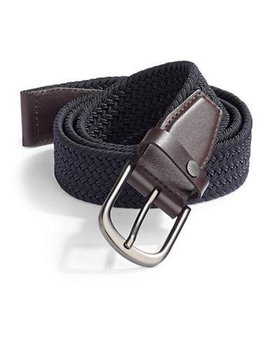 Ted Baker London Core Elastic Woven Belt-NAVY-Medium/Large