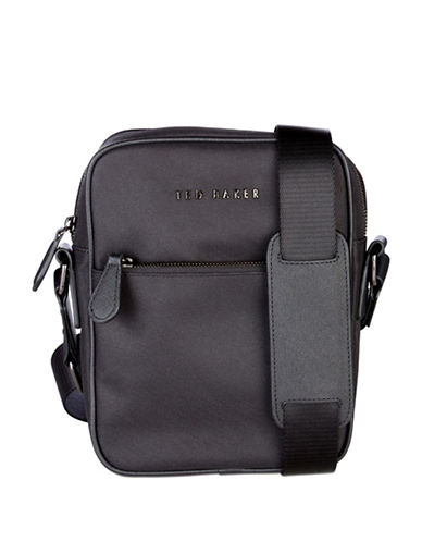Ted Baker London Nail Core Nylon Flight Bag-BLACK-One Size