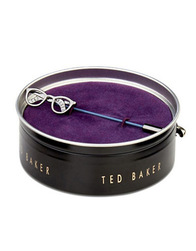 Ted Baker London Speccy Lapel Pin-GUNMETAL-One Size