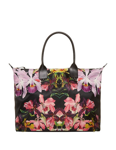 Ted Baker London Lost Gardens Large Tote-BLACK-One Size