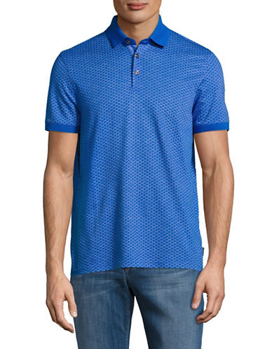 Ted Baker London Jacquard Polo-BLUE-3/Small