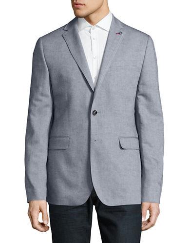 Ted Baker London Cotton-Linen Blend Twill Blazer-LIGHT BLUE-6/X-Large