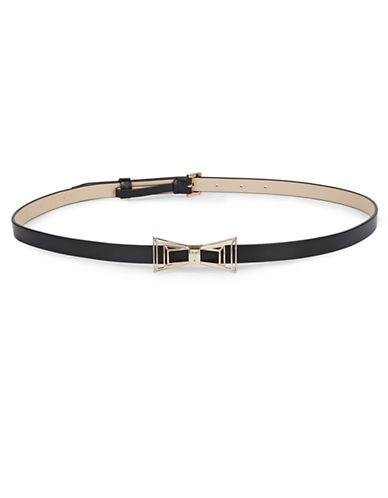 Ted Baker London Geo Bow Belt-BLACK-Medium
