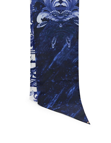 Ted Baker London Pauline Persian Skinny Scarf-NAVY-One Size