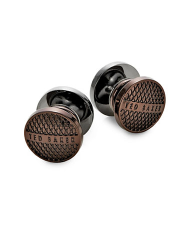 Ted Baker London Textured Reversible Cufflinks-BROWN-One Size