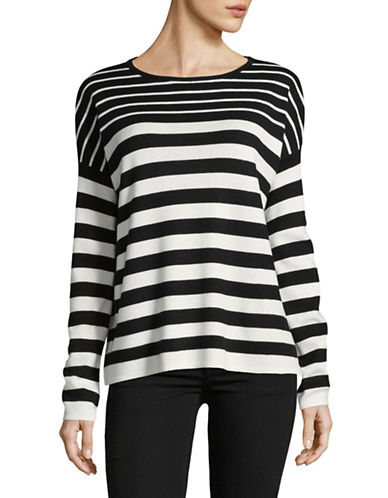Line Angela Striped Sweater-BLACK-X-Small