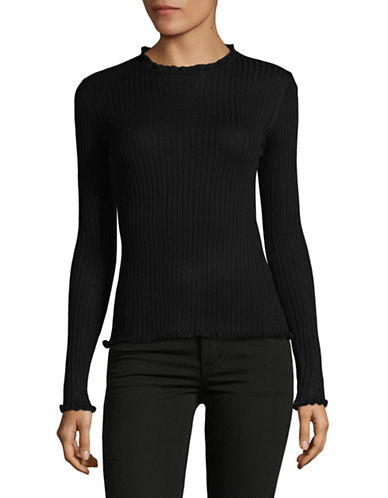 Line Chelsea Rib-Knit Sweater-BLACK-X-Small