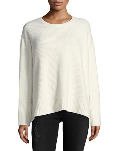 Line Vaughn Crew Merino Wool-Alpaca Blend Sweater-WHITE-Large