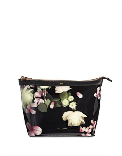 Ted Baker London Kensington Floral Large Washbag-BLACK-One Size