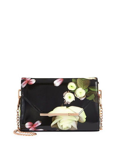 Ted Baker London Tomara Floral Crossbody-BLACK-One Size