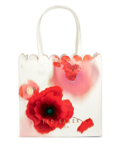 Ted Baker London Playful Poppy Tote-RED-One Size