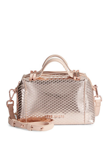 Ted Baker London Axton Texture Metallic Crossbody-ROSE GOLD-One Size