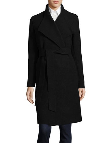 Line Sven Wrap Coat-BLACK-Small