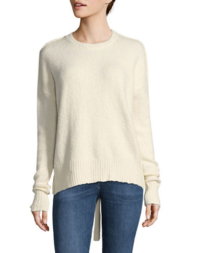 Line Harper Lace Back Sweater-WHITE-Small