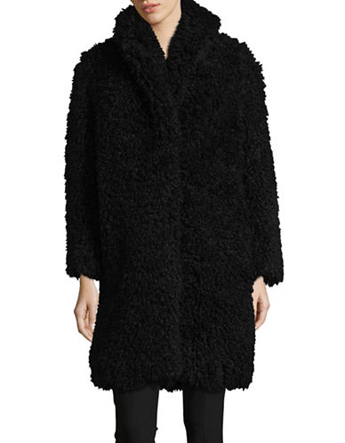 Line Lindsay Teddy Coat-BLACK-Small