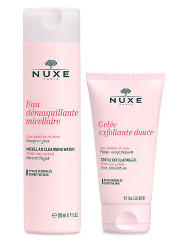 Nuxe Petales de Rose  Duo Micellar Cleansing Water and Gentle Exfoliating Gel-NO COLOR-One Size