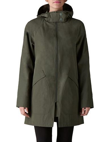 Bianca Nygard Raglan Hooded Coat-KHAKI-Small