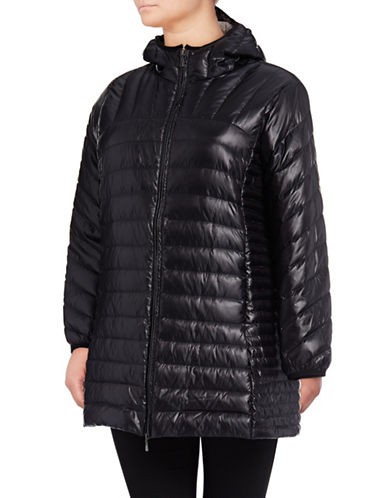 Bianca Nygard Leonardo Packable Puffer Coat-BLACK-2X