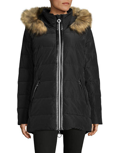 Bianca Nygard Sutton Down Parka with Faux Fur-BLACK-X-Small