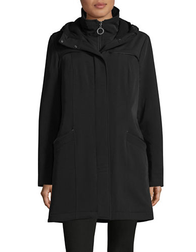 Bianca Nygard Hollywood Transitional Hooded Coat-BLACK-Medium