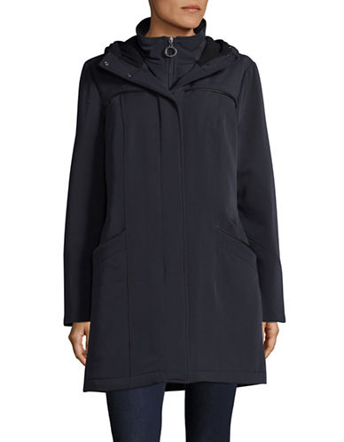 Bianca Nygard Hollywood Transitional Hooded Coat-NAVY-X-Large
