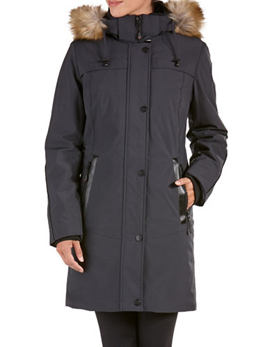 Artic Expedition Mid-length Stretch Winter Coat-SMOKE-Small
