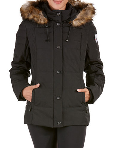 Arctic Expedition Faux Fur Short Down Parka-BLACK-Large 88693273_BLACK_Large