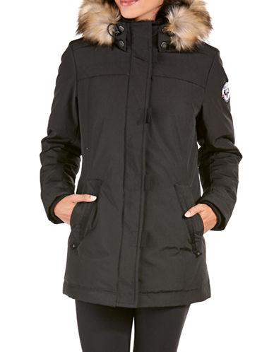 Arctic Expedition Faux Fur Mid-Length Down parka-BLACK-Large 88693248_BLACK_Large