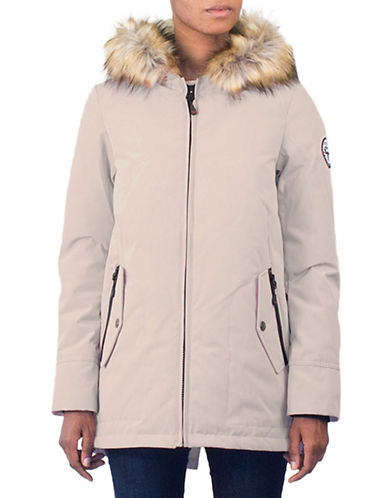 Arctic Expedition Faux Fur Trim Down Jacket-PUTTY-Small
