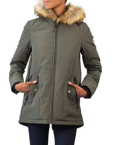 Arctic Expedition Faux Fur Trim Down Jacket-IVY-X-Large