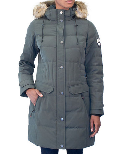 Arctic Expedition Faux Fur Detail Puffer Coat-IVY-Large