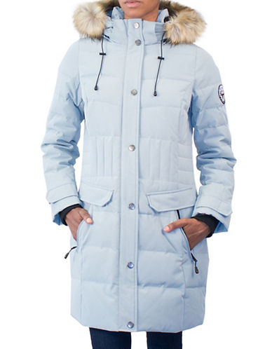 Arctic Expedition Faux Fur Down Jacket-WINTERMINT-X-Small