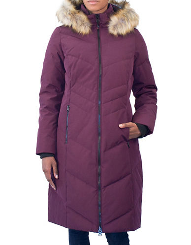 Arctic Expedition Faux Fur Trim Maxi Parka Coat-BLACKBERRY-2X
