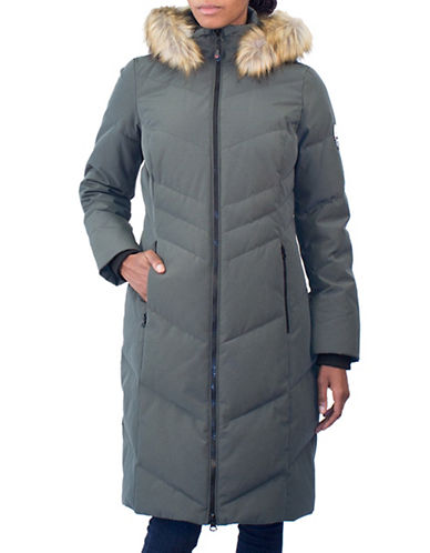 Arctic Expedition Faux Fur Trim Maxi Parka Coat-IVY-3X