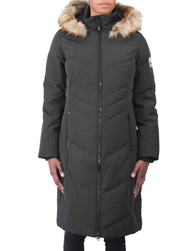 Arctic Expedition Faux Fur Maxi Parka-BLACK-Large