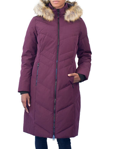 Arctic Expedition Faux Fur Maxi Parka-BLACKBERRY-X-Small