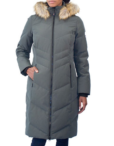 Arctic Expedition Faux Fur Maxi Parka-IVY-X-Small