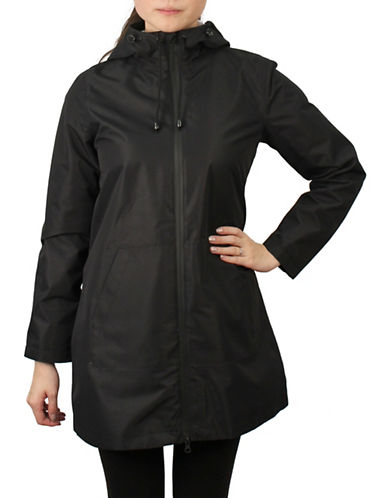 London Fog A-Line Waterproof Jacket-BLACK-Large 89854218_BLACK_Large