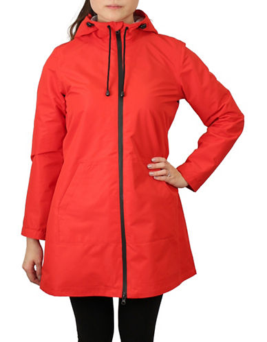 London Fog A-Line Waterproof Jacket-RED-X-Small 89854234_RED_X-Small