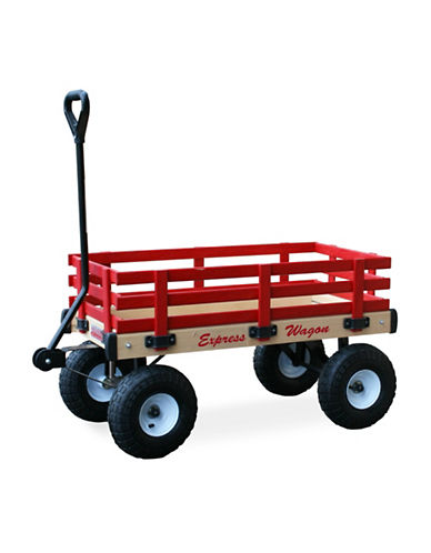 Millside 20x38-Inch Wooden Express Wagon-RED-One Size