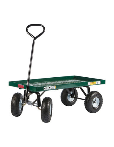 Millside Expanded Metal Deck Wagon-GREEN-One Size